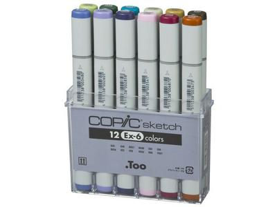 COPIC SKETCH SET 12-DELIG EX-6