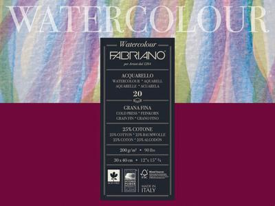 FA WATERCOLORBLOK 30X40 200GR GRAIN FIN 4Z.GEL. 20VEL