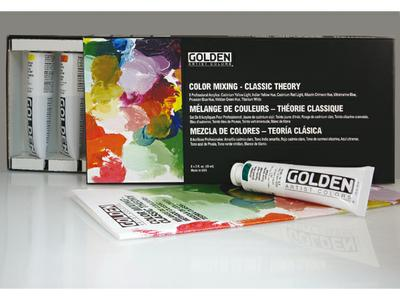 GOLDEN COLOR MIXING SET CLASSIC THEORY 8X59ML HEAVY BODY