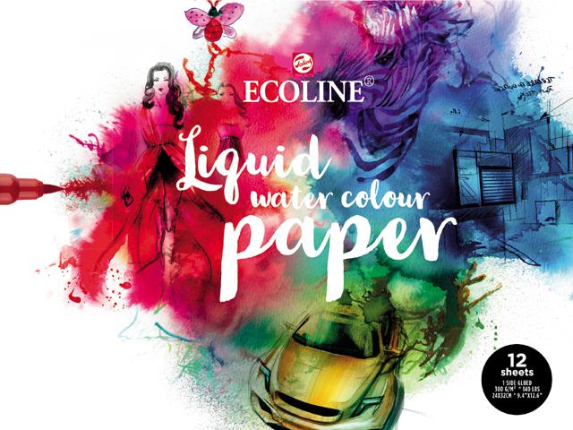ECOLINE LIQUID WATERCOLOURBLOK 24x32CM 290GR 1-ZIJD. (12VEL) 1