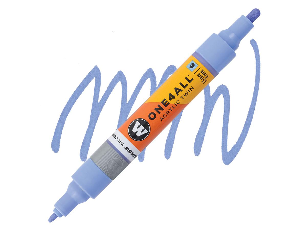 MOLOTOW ONE4ALL TWIN MARKER 209 1,5-4MM BLUE VIOLET PASTEL 1