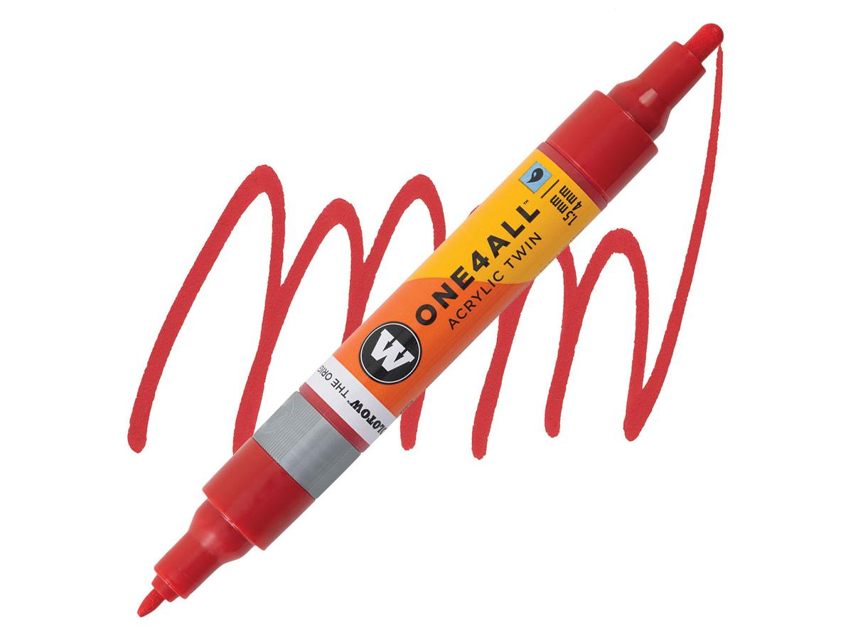 MOLOTOW ONE4ALL TWIN MARKER 013 1,5-4MM TRAFFIC RED 1