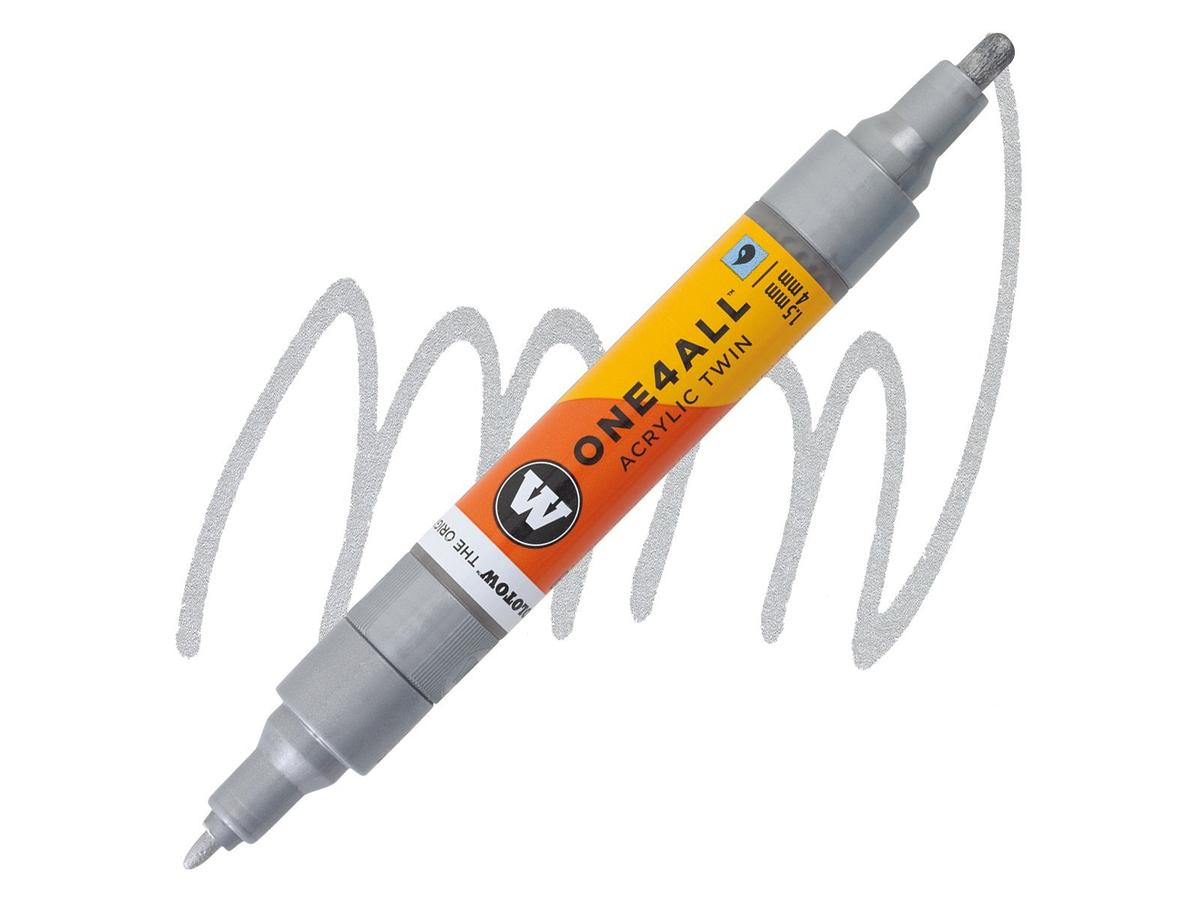 MOLOTOW ONE4ALL TWIN MARKER 227 1,5-4MM METALLIC SILVER 1