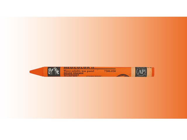 NEOCOLOR II AQUARELKRIJT  PER STUK RED ORANGE 050 1