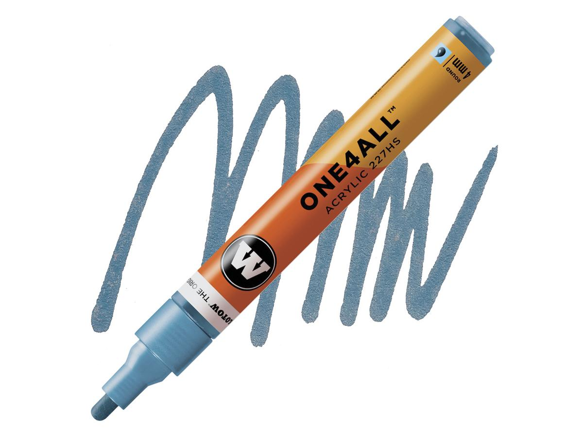 MOLOTOW ONE4ALL MARKER 227HS 224 4MM METALLIC BLUE 1
