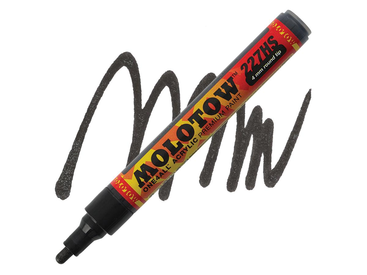 MOLOTOW ONE4ALL MARKER 227HS 4MM METALLIC BLACK