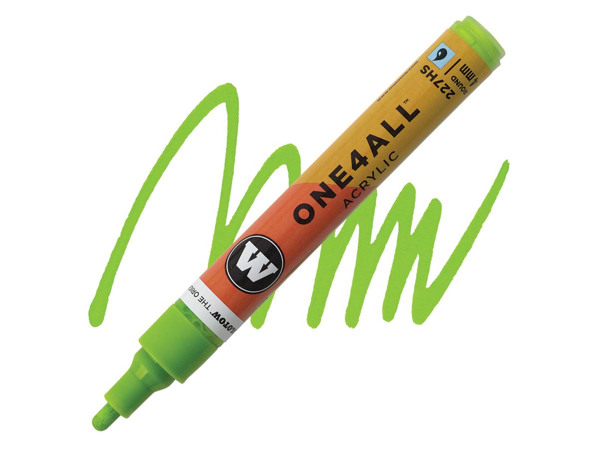 MOLOTOW ONE4ALL MARKER 227HS 4MM NEON YELLOW FLUOR