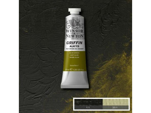 WINSOR & NEWTON GRIFFIN ALKYDVERF S1 37ML OLIVE GREEN 1