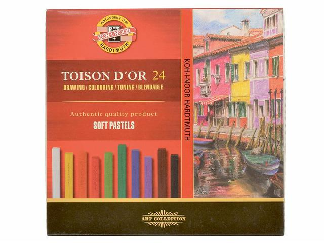 ASS.DS CARRE TOISON D'OR 24STUKS PASTEL 1
