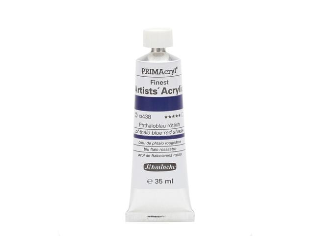 SCHMINCKE 35ML PRIMACRYL S2 438 PHTALO BLUE RED SHADE 1