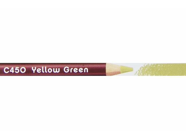 DERWENT COLOURSOFT KLEURPOTLOOD 450 YELLOW GREEN 1