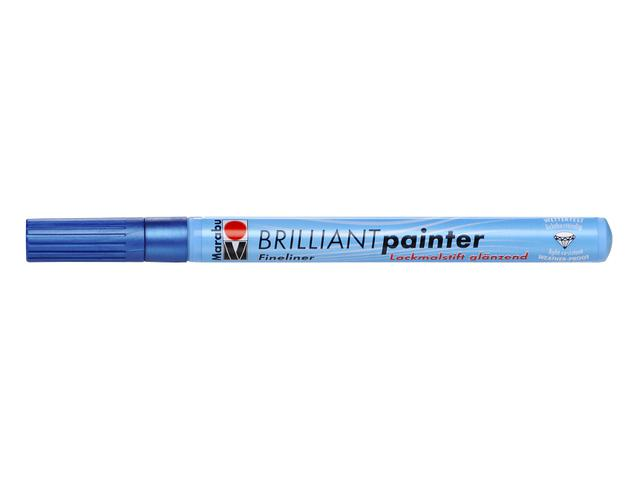 MARABU BRILLIANT PAINTER 0,8MM 752 BLAUW METAAL 1