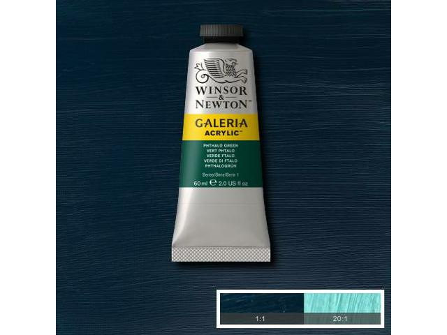 WINSOR & NEWTON GALERIA TUBE 60ML 522 PHTHALO GREEN 1