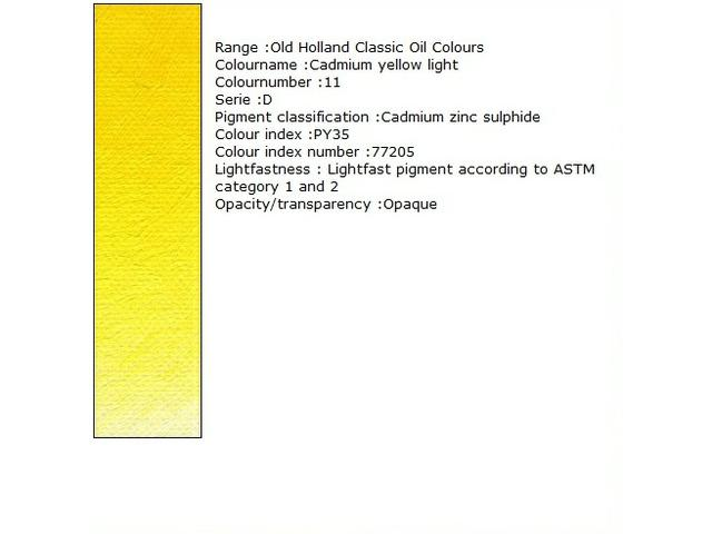 OUDT HOLLANDSE OLIEVERF 40ML SERIE D CADMIUM YELLOW MEDIUM