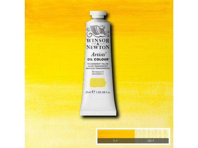 WINSOR & NEWTON OLIEVERF 37ML S4 653 TRANSP. YELLOW 1