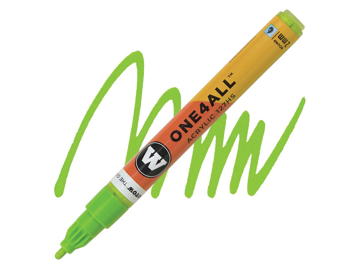 MOLOTOW ONE4ALL MARKER 127HS 2MM NEON YELLOW FLUOR