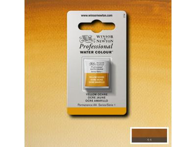 W&N AQUARELVERF 1/2NAPJE S1 YELLOW OCHRE LIGHT