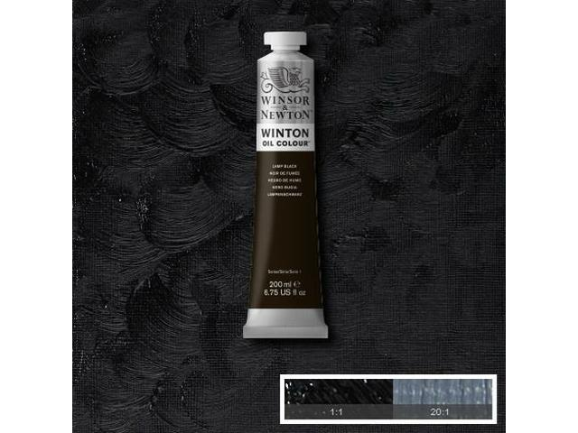 W&N WINTON OLIEVERF 200ML IVORY BLACK