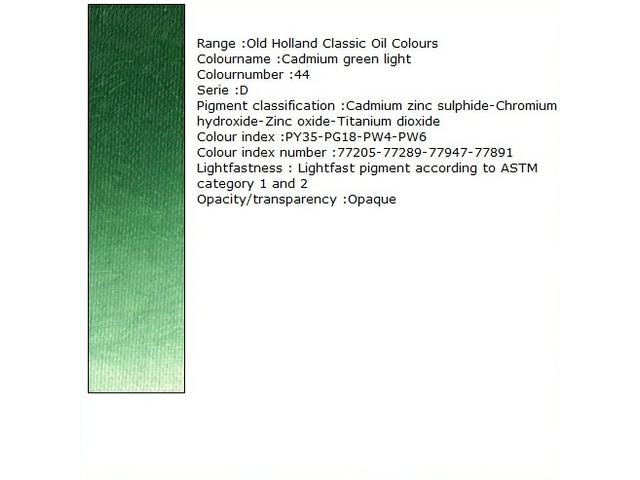 OUDT HOLLANDSE OLIEVERF 40ML SERIE D CADMIUM GREEN DEEP