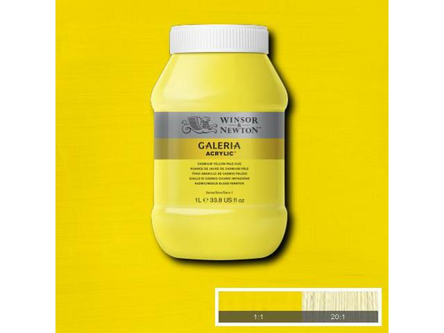 W&N GALERIA ACRYLIC 1000ML CADMIUM YELLOW DEEP HUE