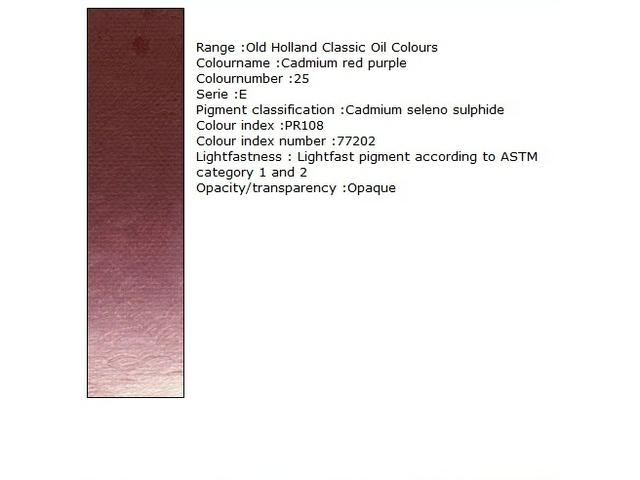 OUDT HOLLANDSE OLIEVERF 40ML SERIE E CADMIUM RED LIGHT