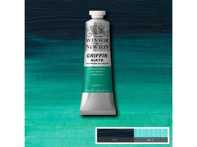 GRIFFIN ALKYDVERF S1 37ML PHTALO GREEN (YELLOW SHADE)