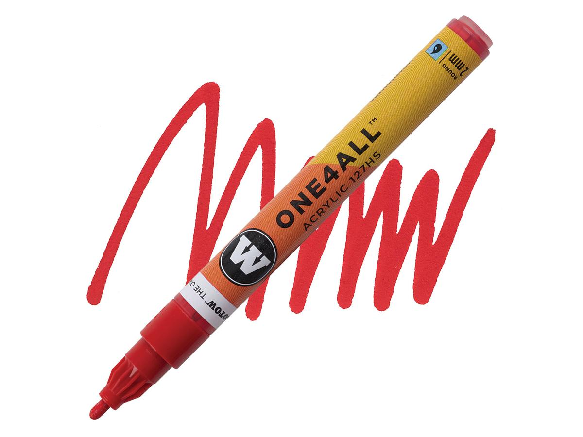 MOLOTOW ONE4ALL MARKER 127HS 013 2MM TRAFFIC RED 1