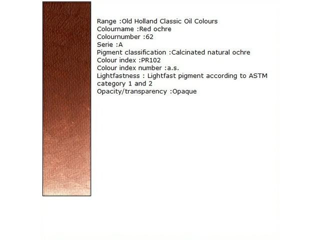 OUDT HOLLANDSE OLIEVERF 40ML SERIE A RAW UMBER