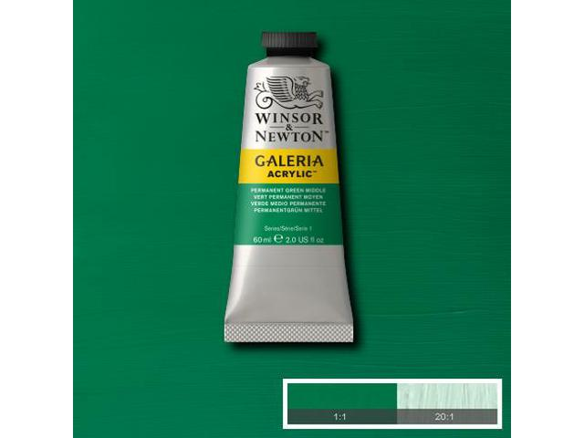 W&N GALERIA TUBE 60ML 482 PERMANENT GREEN DEEP