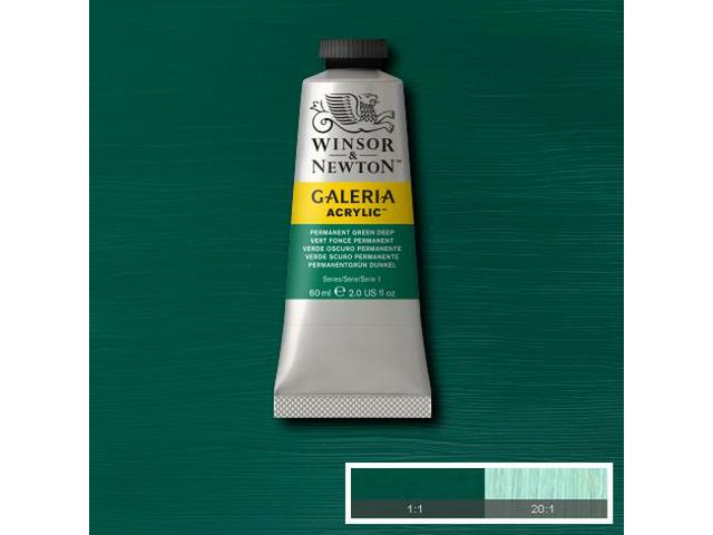 W&N GALERIA TUBE 60ML 483 PERMANENT GREEN LIGHT