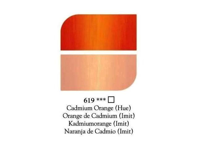 DALER ROWNEY GEORGIAN OLIEVERF 225ML CADMIUM ORANGE(IMIT)619 1