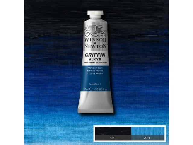 WINSOR & NEWTON GRIFFIN ALKYDVERF S1 37ML PRUSSIAN BLUE 1