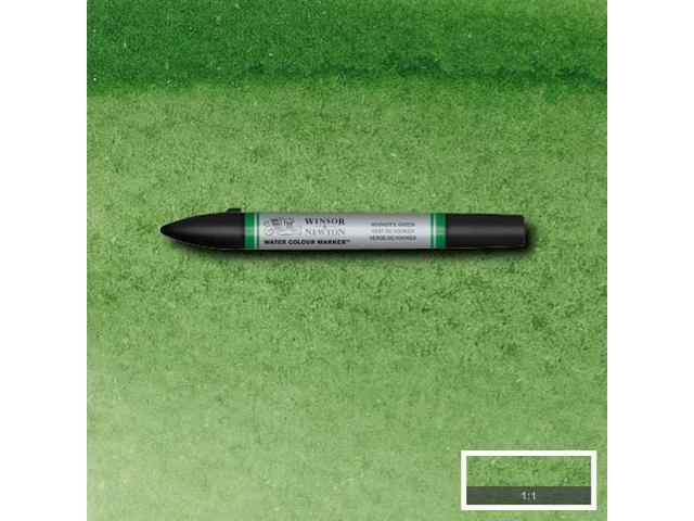 W&N WATER COLOUR MARKER S1-312 HOOKERS GREEN DARK
