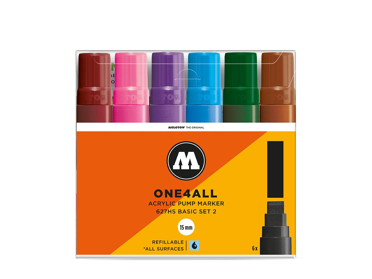 MOLOTOW ONE4ALL MARKERSET 627HS 15MM BASIS 2 6STUKS 1