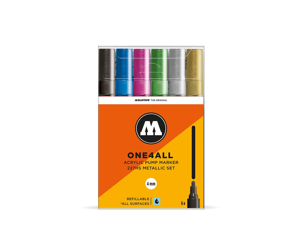 MOLOTOW ONE4ALL MARKERSET 227HS 4MM BASIC 1 10STUKS