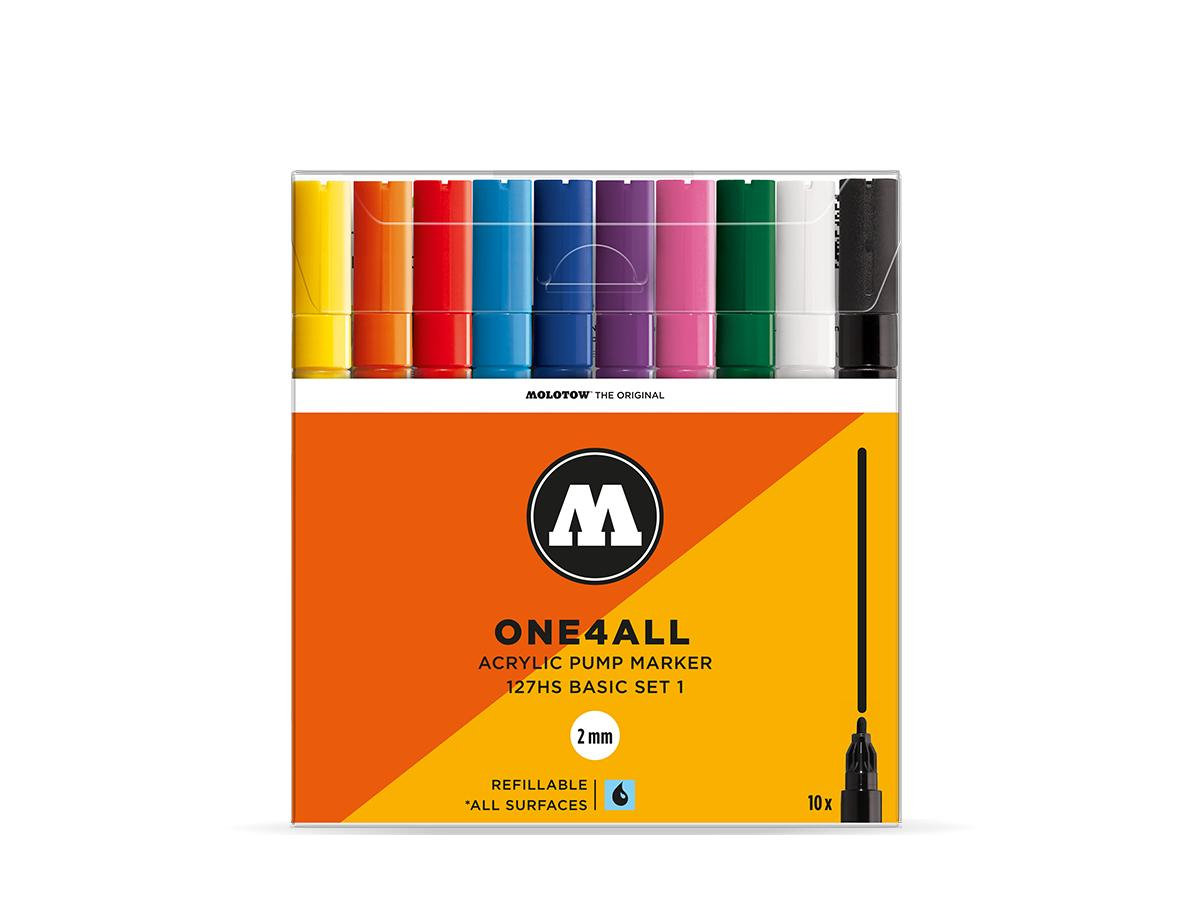 MOLOTOW ONE4ALL MARKERSET 127HS 2MM BASIC 2 10STUKS