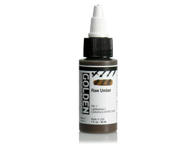 GOLDEN HIGH FLOW ACRYL 30ML S1 RAW UMBER 1