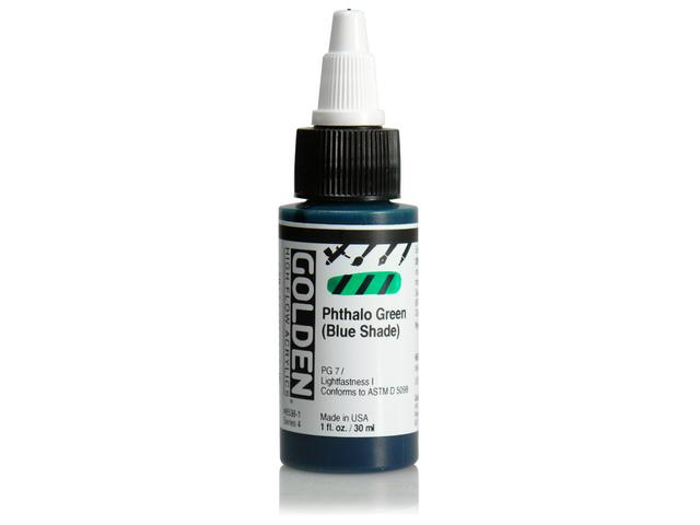 GOLDEN HIGH FLOW ACRYL 30ML S4 PHTHALO BLUE (GREEN SHADE)