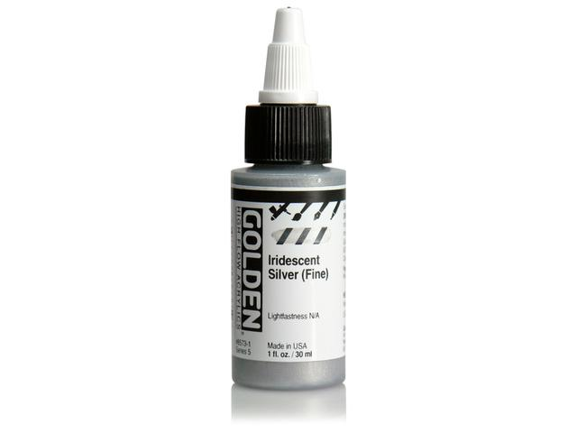GOLDEN HIGH FLOW ACRYL 30ML S5  IRIDESCENT SILVER (FINE) 1
