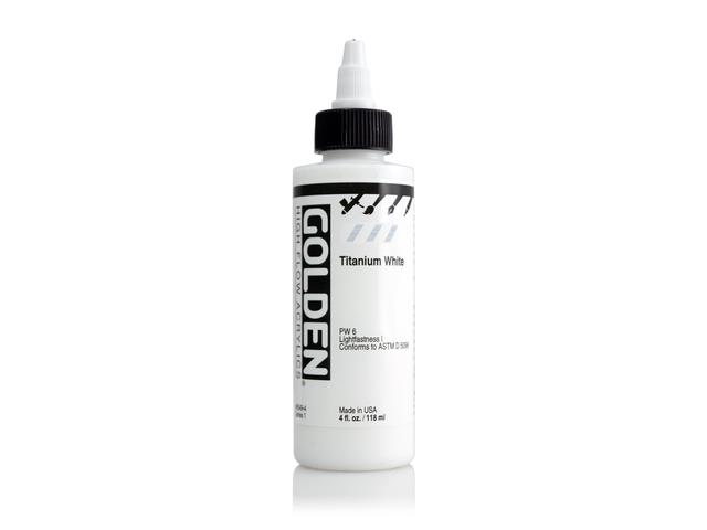 GOLDEN HIGH FLOW ACRYLIC 119ML S1 TITANIUM WHITE 1