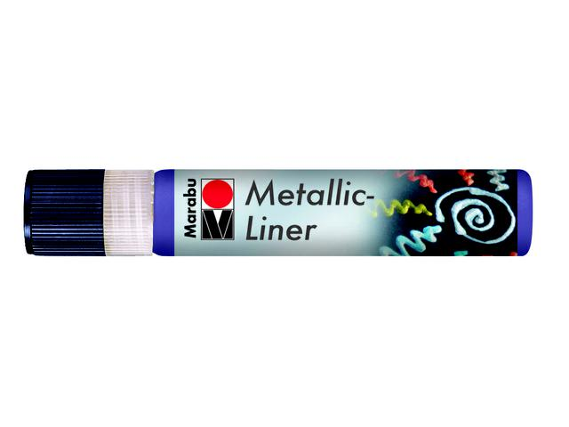 MARABU METALLIC LINER 25ML-752 METALLIC BLAUW