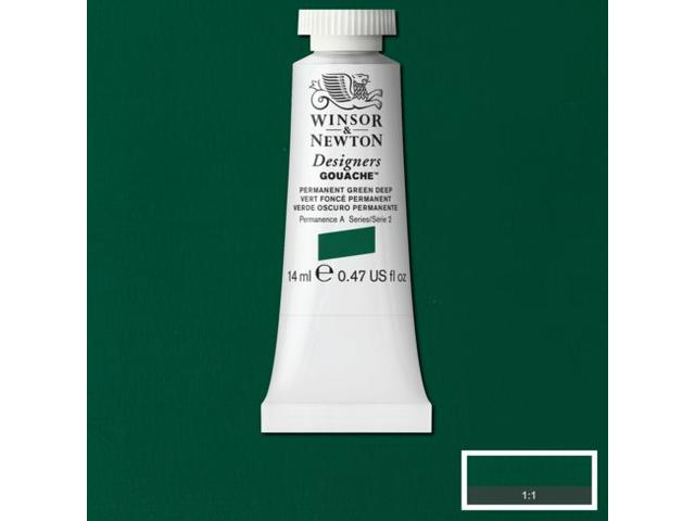 W&N GOUACHE TUBE 14ML S2 PERM. GREEN LIGHT 483/561