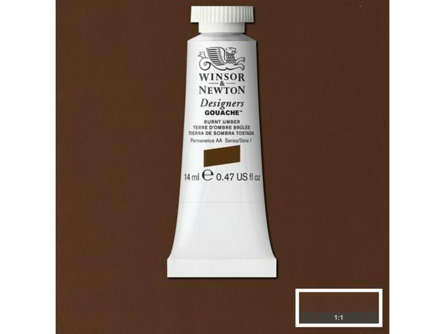 W&N GOUACHE TUBE 14ML S1 BURNT SIENNA 074/504