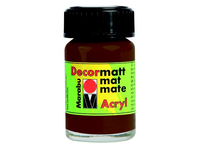 MARABU DECORMATT 15ML 045 DONKERBRUIN