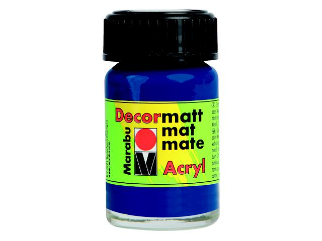 MARABU DECORMATT 15ML 052 MIDDENBLAUW