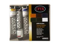 GOLDEN OPEN ACRYLIC HISTOR.SET 6X22ML