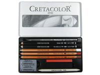 CRETACOLOR ARTINO ART SET METAL BOX, 10-DELIG 400.20