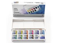 WINSOR & NEWTON COTMAN AQUAREL SET POCKETBOX 12 X 1/2 NAPJES