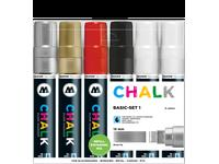 MOLOTOW CHALK 15MM BASIC-MARKERSET1  - 6 STUKS