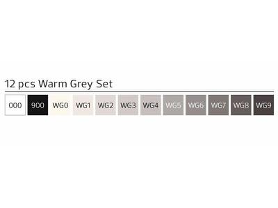 STYLEFILE BRUSH MARKERSET BR12WG 12-DELIG WARM GREY 2